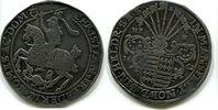 Taler 1662 Mansfeld,eigentliche Hinterurti...