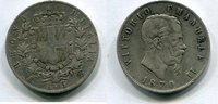 5 Lire 1870 BN Italien ~ Vittorio Emanuele...