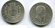 5 Lire 1873 BN Italien ~ Vittorio Emanuele...