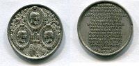 Blei Medaille 1850 Großbritannien ~ Prinze...