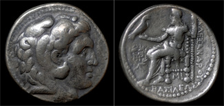 tetradrachm 312-281BC Seleucid Kingdom Seleucid Kingdom Seleukos I Nikator AR tetradrachm VF+