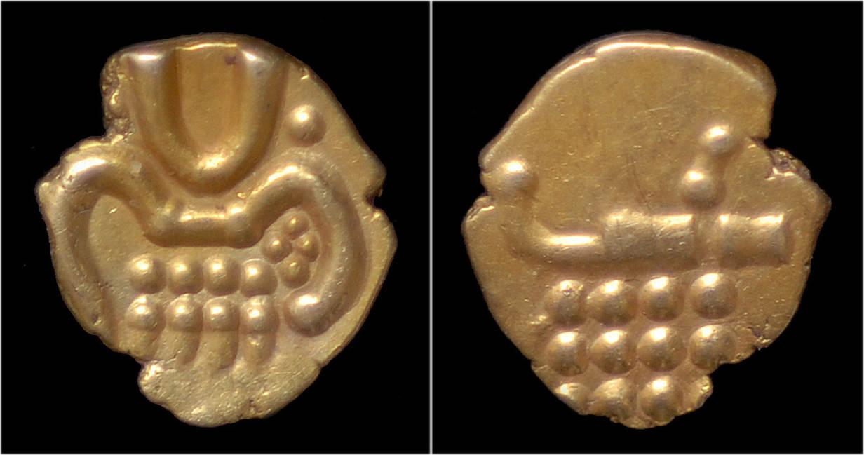 1663-1776 South India Cochin Vira Raya Raja Gold Fanam