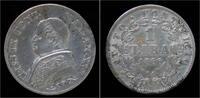 1 lire 1866 Vatican City Italy Vatican Cit...