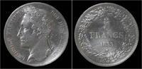 5 frank 1833 Belgium Belgium Leopold I 5 f...