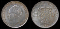 2 1/2 gulden 1944 Curaçao Curacao Wilhelmi...