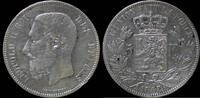 5 frank 1867 Belgium Belgium Leopold II 5 ...