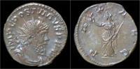 Roman Postumus AR antoninianus Pax stand...