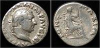 denarius 69AD Roman Vitellius AR denarius ...