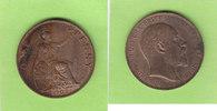 One Penny 1902 Großbritannien low horizon,...