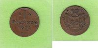 1 Pfennig 1825 Waldeck und Pyrmont überdur...