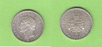 1/6 Taler 1864 Sachsen toll erhalten fast ...