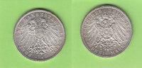 3 Mark 1914 Lübeck toll erhalten, sehr sel...
