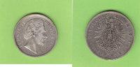 5 Mark 1876 Bayern König Ludwig II fast se...