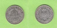 50 Pfennig 1900 J Kaiserreich hübsch, selt...