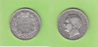 5 Dinara 1879 Serbien  sehr schön