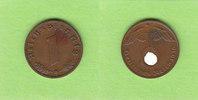 1 Reichspfennig 1936 G Drittes Reich selte...