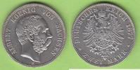 2 Mark 1877 Sachsen überdurchschnittlich, ...
