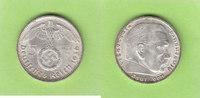 5 Reichsmark 1936 J Drittes Reich Hindenbu...