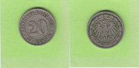 20 Pfennig 1892 D Kaiserreich selten sehr ...