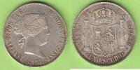 Escudo 1865 Spanien Prachtexemplar fast St...