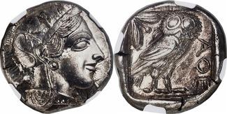 Ca. 454-404 BC. Greece ATTICA. Athens. Silver Tetradrachm NGC MS 5/5 - 5/5