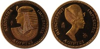 Egypt Gold Proof Medal Hatschepsut - Kle...