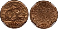 1916-T German East Africa Gold 15 Rupien ...