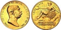 1908 AUSTRIA Franz Joseph I gold 100 Coro...