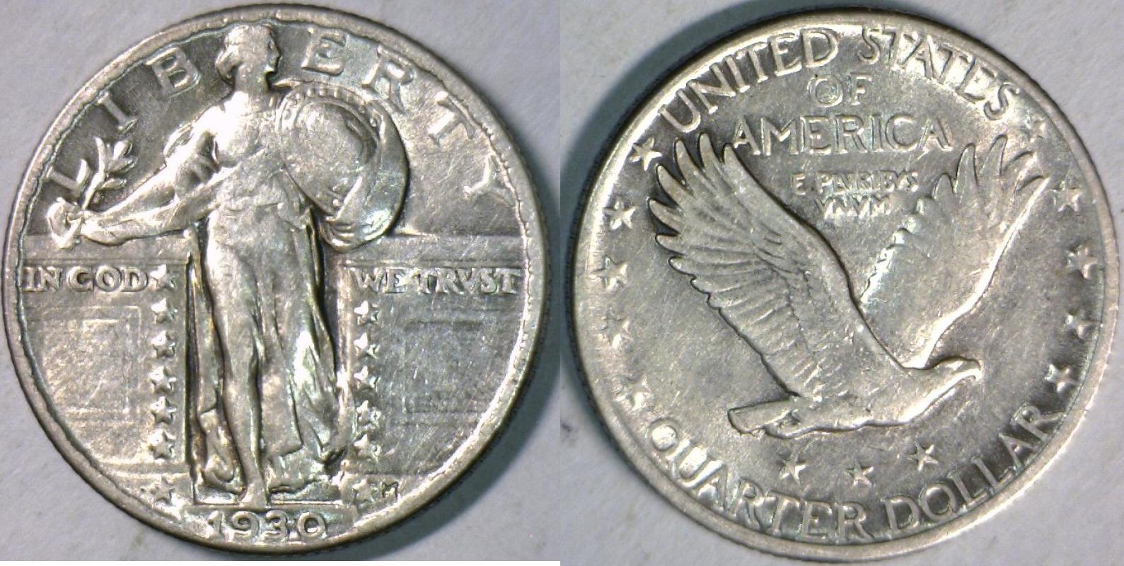 Standing Liberty Quarter 1930 USA