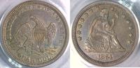 Seated Liberty Quarter 1864 USA  PCGS XF 45