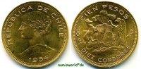 Chile 100 Pesos Chile - 100 Pesos - 1954