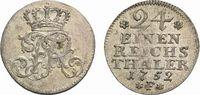 1/24 Taler 1752 F, Magdeburg Brandenburg-Preußen Friedrich II. 1740-178... 39,00 EUR  +  5,00 EUR shipping