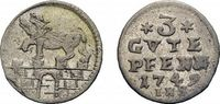 3 Gute Pfennig 1749 IHS Anhalt-Bernburg Victor Friedrich 1721-1765 Selt... 78,00 EUR  +  5,00 EUR shipping