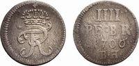 4 Pfennig 1706 BH Minden Brandenburg-Preußen Friedrich I. 1701-1713 Sel... 148,00 EUR  +  5,00 EUR shipping