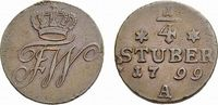 Cu 1/4 Stüber 1799 A Brandenburg-Preußen Friedrich Wilhelm III. 1797-18... 36,00 EUR  +  5,00 EUR shipping