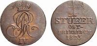 Cu 1/4 Stüber 1823 B Braunschweig-Calenber...
