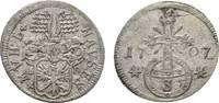 3 Pfennig 1707 ID Mühlhausen, Stadt  Sehr ...