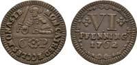 Cu 6 Pfennig 1762 Münster, Domkapitel  Fas...