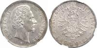 5 Mark 1876 Bayern Ludwig II. 1864-1886. V...