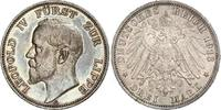 3 Mark 1913  A Lippe Leopold IV. 1904-1918. Schöne Patina. Winzige Rand... 480,00 EUR free shipping