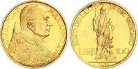 100 Lire Gold 1936 Italien-Vatikan Pius XI...