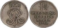 1 1/2 Pfennig 1750  S Braunschweig-Calenberg-Hannover Georg II. 1727-17... 35,00 EUR  +  6,00 EUR shipping