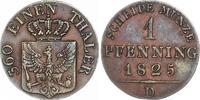 Cu Pfennig 1825  D Brandenburg-Preußen Friedrich Wilhelm III. 1797-1840... 45,00 EUR  +  6,00 EUR shipping