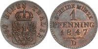 Cu Pfennig 1847  D Brandenburg-Preußen Friedrich Wilhelm IV. 1840-1861.... 65,00 EUR  +  6,00 EUR shipping