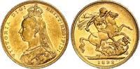 Sovereign Gold 1892  M Australien Victoria 1837-1901. Winzige Kratzer, vorzüglich - Stempelglanz