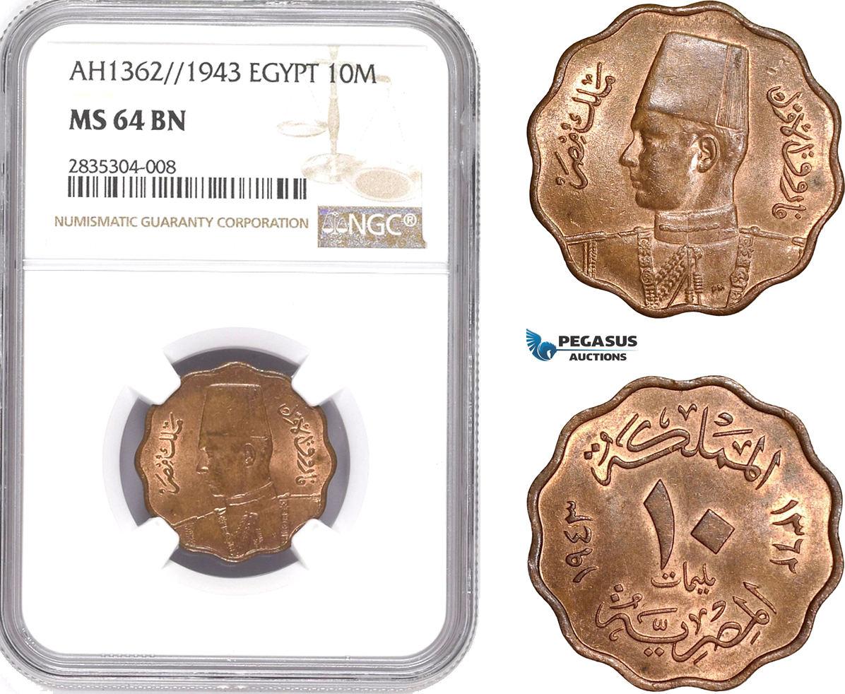 1943 Egypt 10 Milliemes