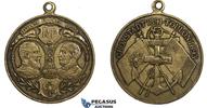 Bronze Medal 1893 Russia & France Kronstad...