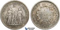 Hercules 5 Francs 1849 France Second Repub...
