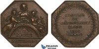 Bronze Masonic Token Medal 1843 France Mas...