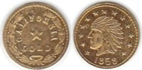 Fractional Gold 1858 USA Kalifornien Fract...